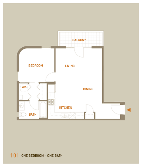 floorplan for unit 101