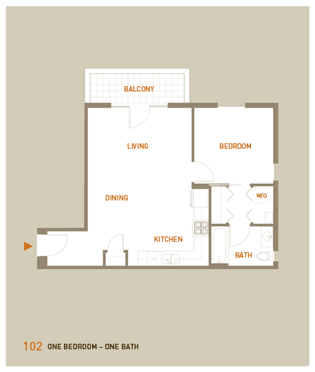 floorplan for unit 102