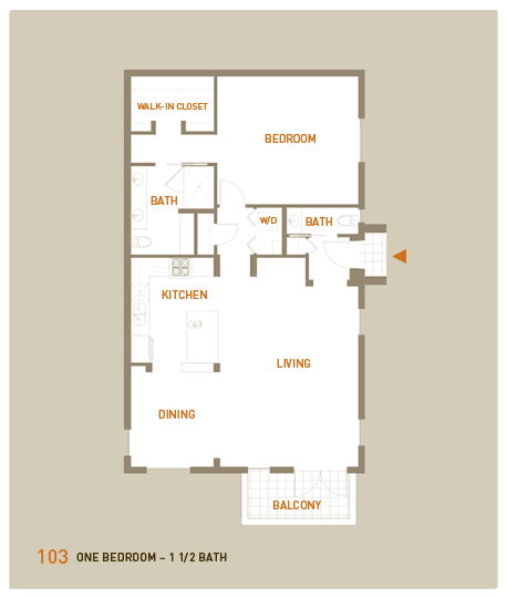 floorplan for unit 103