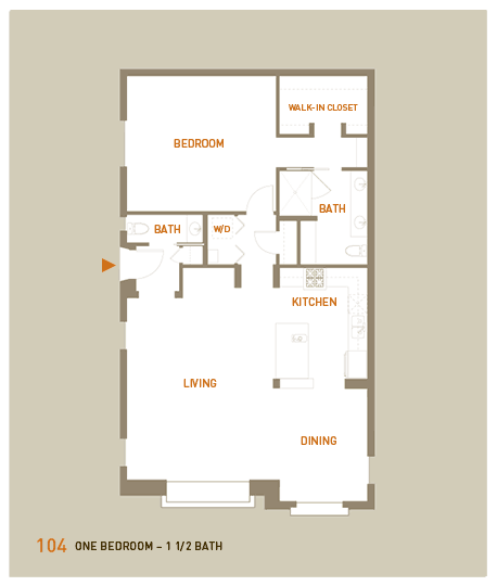 floorplan for unit 104