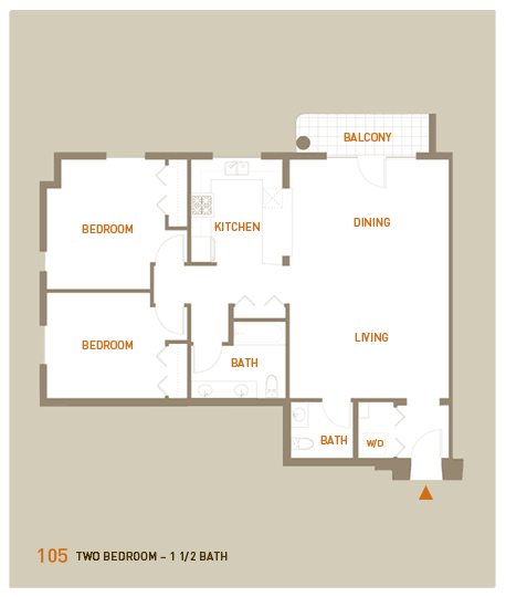 floorplan for unit 105