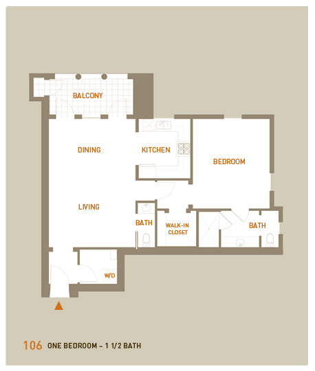 floorplan for unit 106