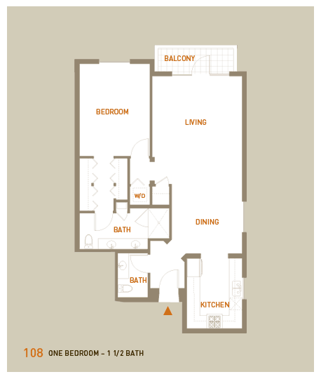 floorplan for unit 108