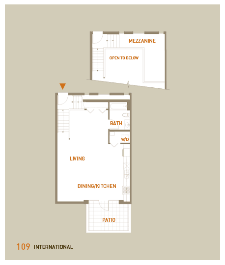 floorplan for unit 109