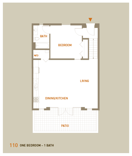 floorplan for unit 110