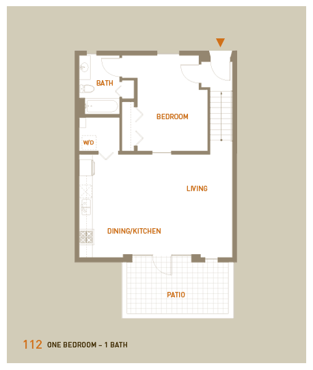 floorplan for unit 112