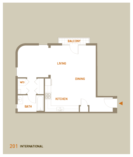 floorplan for unit 201