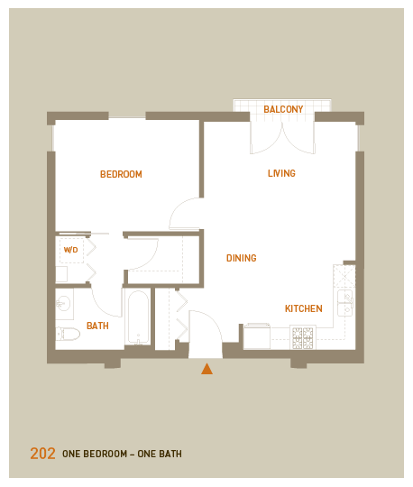floorplan for unit 202