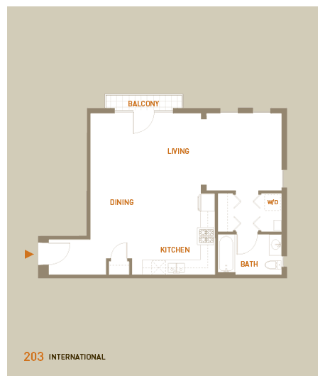 floorplan for unit 203