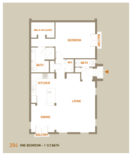 floorplan for unit 204