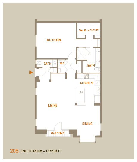 floorplan for unit 205