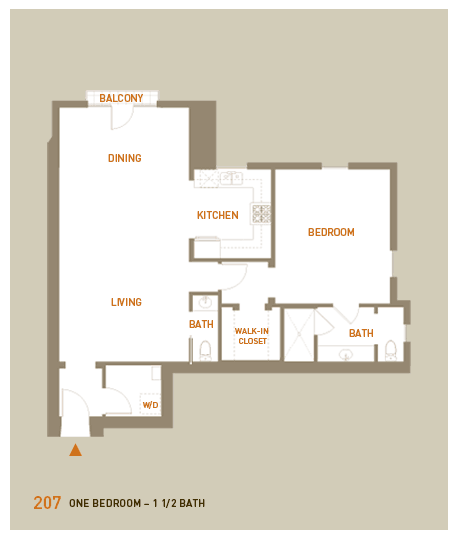 floorplan for unit 207