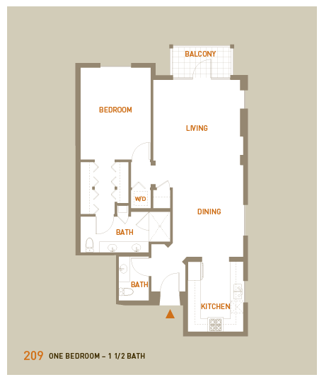 floorplan for unit 209