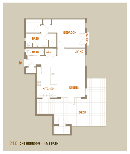 floorplan for unit 210