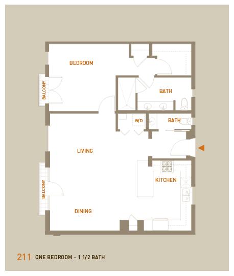 floorplan for unit 211