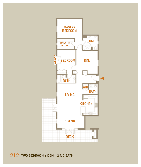 floorplan for unit 212