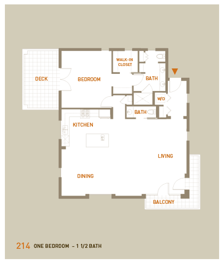 floorplan for unit 214
