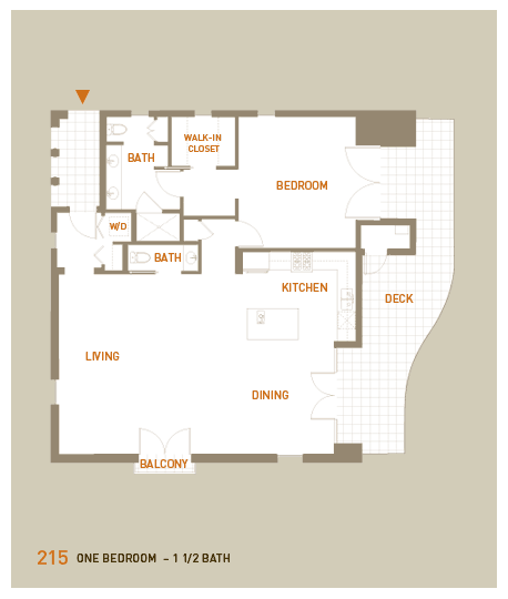 floorplan for unit 215