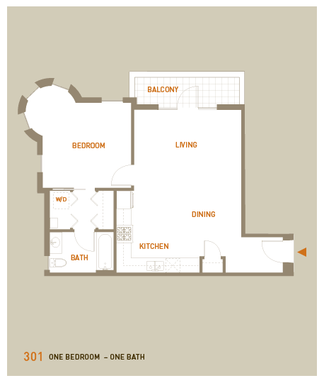 floorplan for unit 301