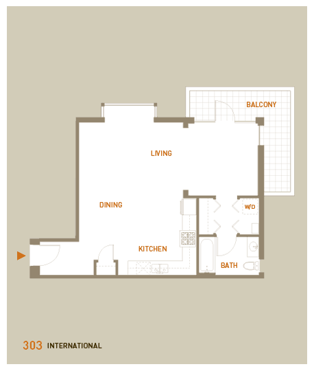floorplan for unit 303