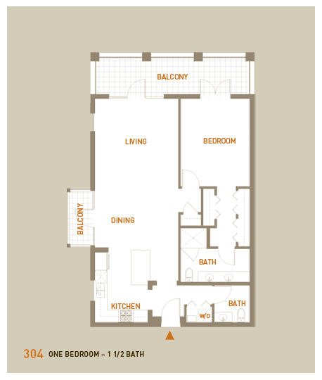 floorplan for unit 304