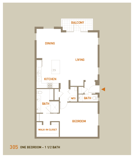 floorplan for unit 305