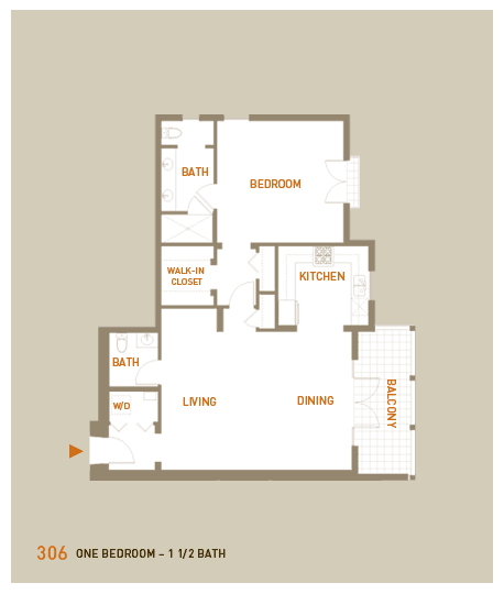 floorplan for unit 306