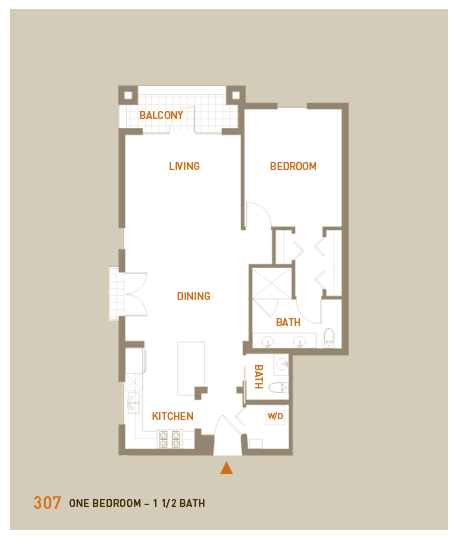 floorplan for unit 307