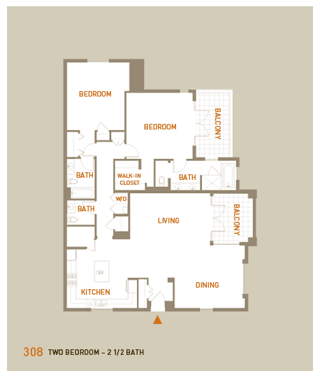 floorplan for unit 308