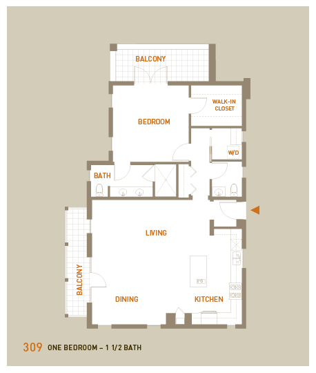 floorplan for unit 309