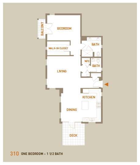 floorplan for unit 310